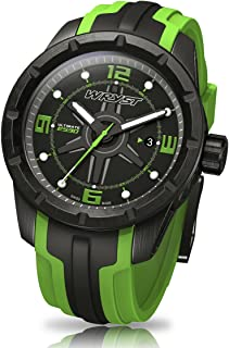 WRYST - Reloj deportivo suizo negro y verde Wryst Ultimate ES30