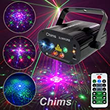 Chims DJ Laser Light Show Projector Red Green Blue Laser with LED 96 Patterns RGRB Color Decoration Lighting System for Family Party DJ Disco Music Show Luses Bar Club Xmas (4 Lens RGRB 96 Patterns)