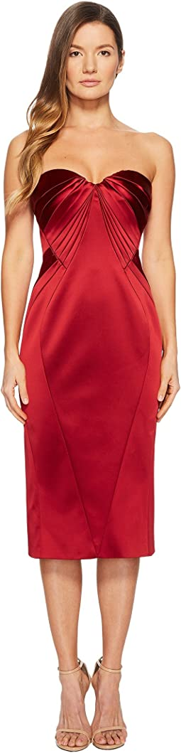 Zac Posen - Sleeveless Sweetheart Stretch Satin Dress