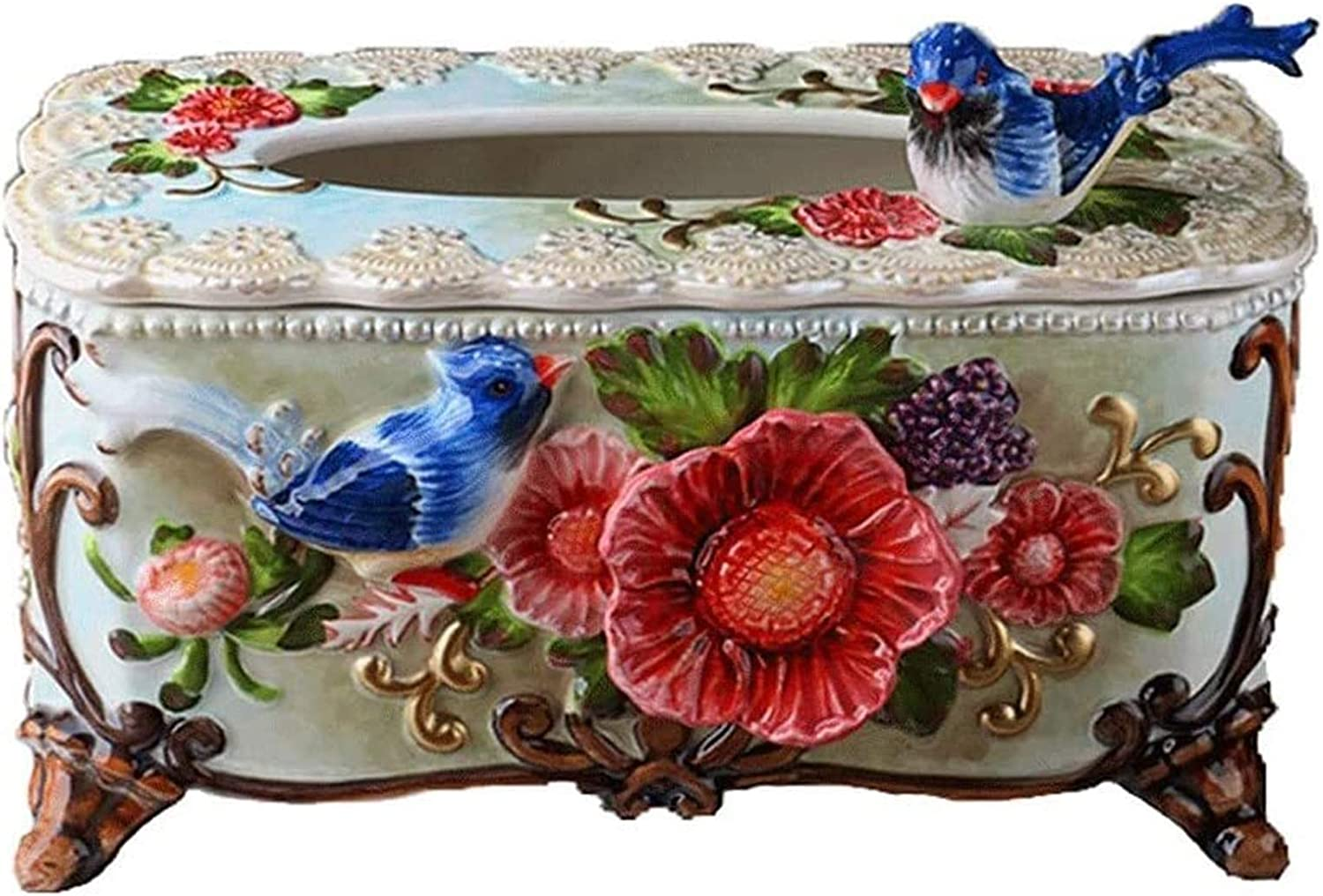 Multifunctional Tissue Box Limited time for free shipping Cover Organizer Relief Flower Ce Baltimore Mall Bird