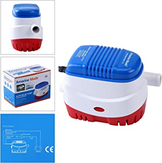 Amarine Made Automatic Submersible Boat Bilge Water Pump 12v 750gph Auto with Float Switch (750gph Auto Pump)
