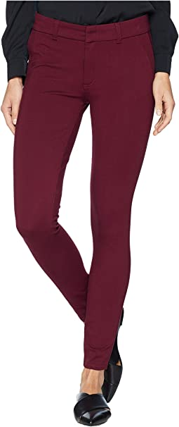 Mia Ankle Skinny Jeans with Front Faux Pockets in Wine