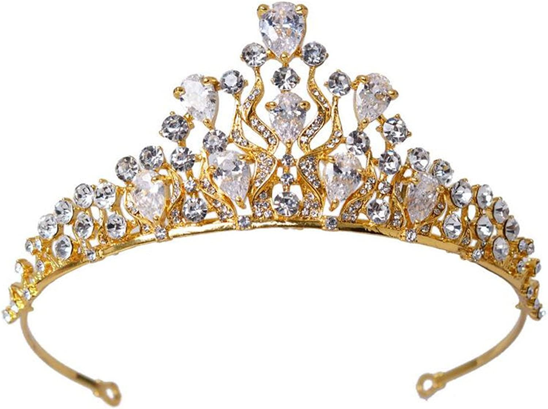 wiipujewelry Wiipu Luxury Royal Gold-Tone AAA Zircon Crown Rhinestone Princess Queen Tiaras,5