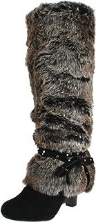 Naughty Monkey Women's Shaggy D Boot,Black,7 M US