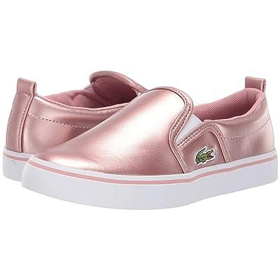 Lacoste Kids Gazon (Little Kid) (Pink/White) Girl