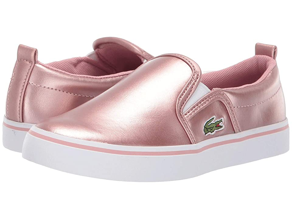Lacoste Kids Gazon (Little Kid) (Pink/White) Girl