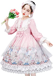 ZYUPHY Princesa Vestido de Niña Flores Elegantes Vestido de Fiesta Boda con Diademas Largo Vestidos de Dama De Honor Comun...