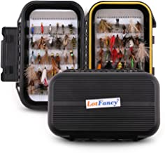 LotFancy Fly Fishing Lures Kit with Tackle Box, Dry/Wet Flies,Nymph Flies, Wooly Bugger Flies, Streamers, Emergers, Caddis Fly Assortment for Trout Bass Salmon