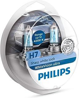 Philips 12972WVUSM WhiteVision Ultra Effet xénon H7 pour éclairage Avant, 4.200K,..