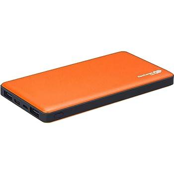 GP PowerBank de 10000 mAh, Cargador portátil de Carga rápida con USB Tipo C, Salida 5V 3A y 3 Puertos USB. (Naranja)