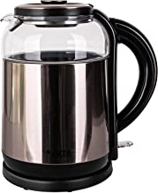 ELECTRIC KETTLE 1.8 LITERS GLASS & S/S COLOR: COOPER & BLACK