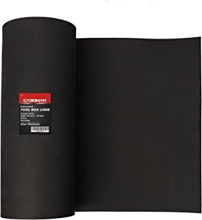 CASOMAN Professional Tool Box Liner and Drawer Liner - 16 inch(wide) x 16 feet (long), Non-Slip, Black, 3mm Thickness (1/8