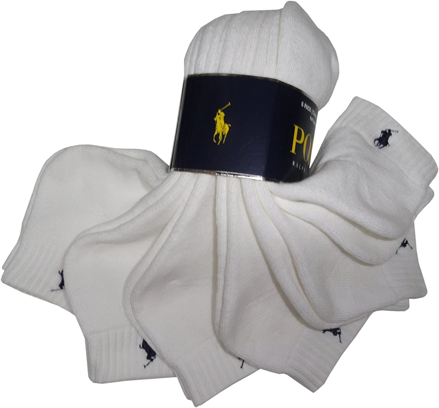 Polo Ralph Lauren Mens Classic Socks Athletic White Sport 5 ☆ very popular Cotton Special sale item