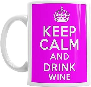 Moson Keep Calm And Drink Wine Mothers Mum Mummy Mom Novelty Tea Mug Gift