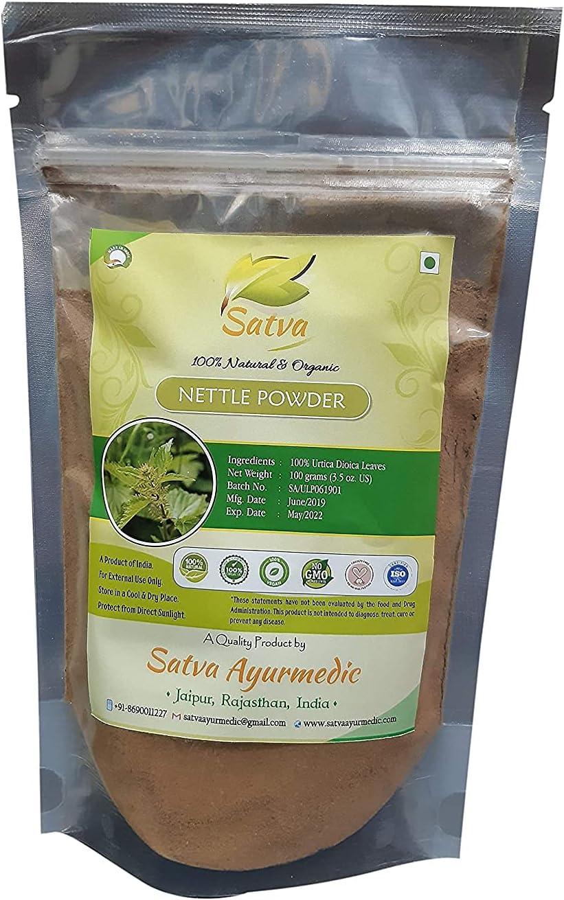 Bluenile store SATVA Nettle Powder - 100% Urtica gm Surprise price 100 Leaves- Dioica