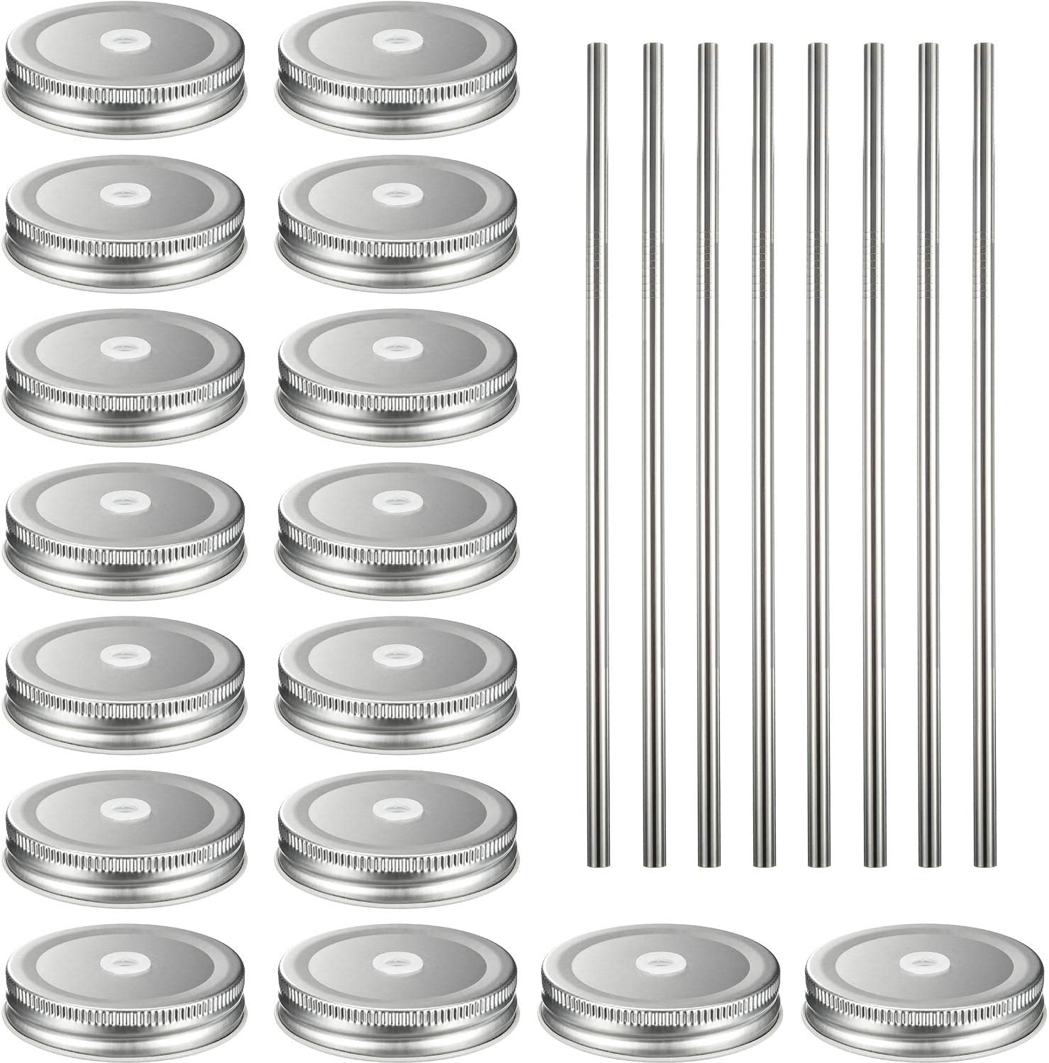 16 Ranking TOP12 Pack Regular Mouth Colorado Springs Mall Lids with Packs Str Stainless 18 8 Steel