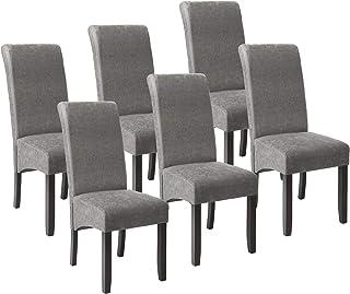 TecTake Lot de 6 Chaises de Salle à Manger 106 cm Chaise de Salon Mobilier Meuble de Salon - diverses Couleurs au Choix -...