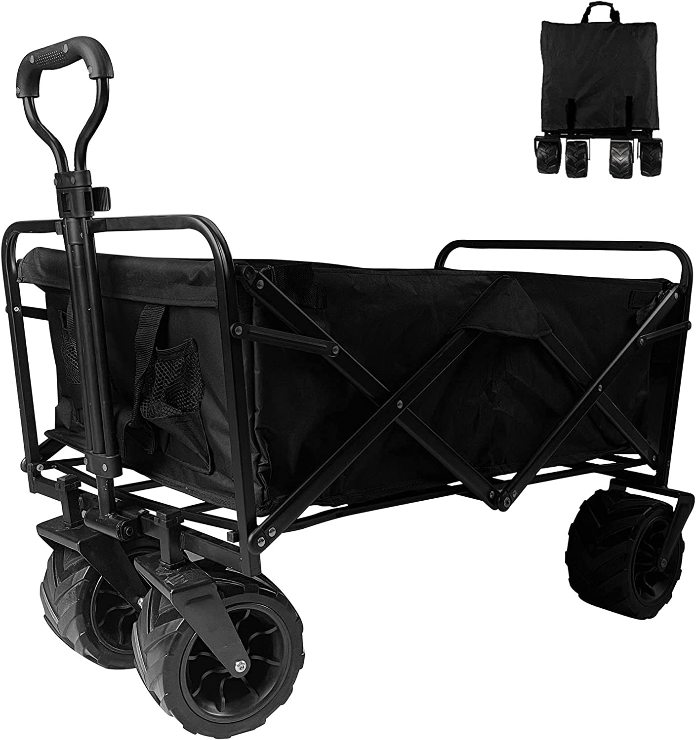 Collapsible OFFicial mail order Heavy Duty Folding Wagon with Cart All Utility Brand Cheap Sale Venue