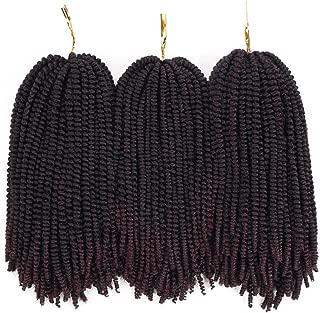 Nubian twist hair ombre color crochet braids fluffy twist hair extensions 3 packs/lot (8 inch) (T99J)