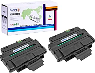 BAISINE Compatible Toner Cartridge for Xerox 106R01486 Toner, for use in Xerox WorkCentre 3210, Xerox WorkCentre 3220 Printer Ink - High Yield 4,100 Pages (Black, 2 Pack)