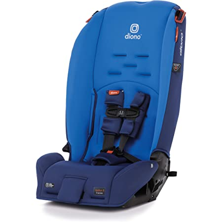 Diono Radian 3R, 3-in-1 Convertible Rear and Forward Facing Convertible Car Seat, High-Back Booster, 10 Years 1 Car Seat, Slim Design - Fits 3 Across, Blue Sky