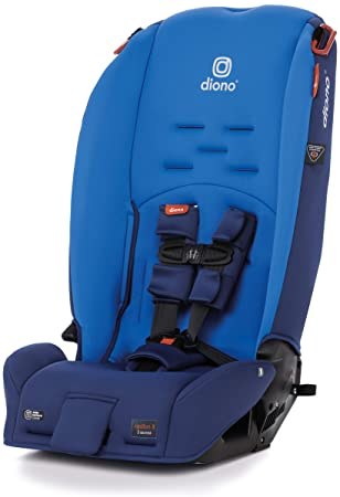 Diono Radian 3R, 3-in-1 Convertible Rear and Forward Facing Convertible Car Seat, High-Back Booster, 10 Years 1 Car Seat, Slim Design - Fits 3 Across, Blue Sky: image