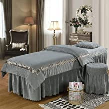 Ruffle Beauty Massage Bedspread,Physiotherapy Mattress Cover Super Soft Crystal Velvet Bedspread European Style Autumn and...