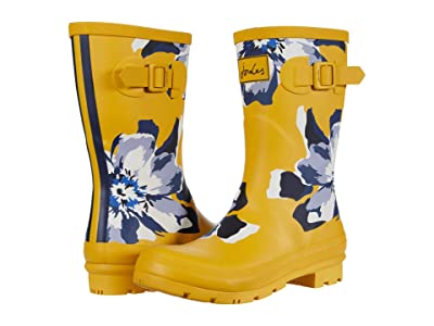 Joules Molly Welly (Gold Floral) Women