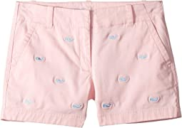 Whale Embroidery Everyday Shorts (Toddler/Little Kids/Big Kids)