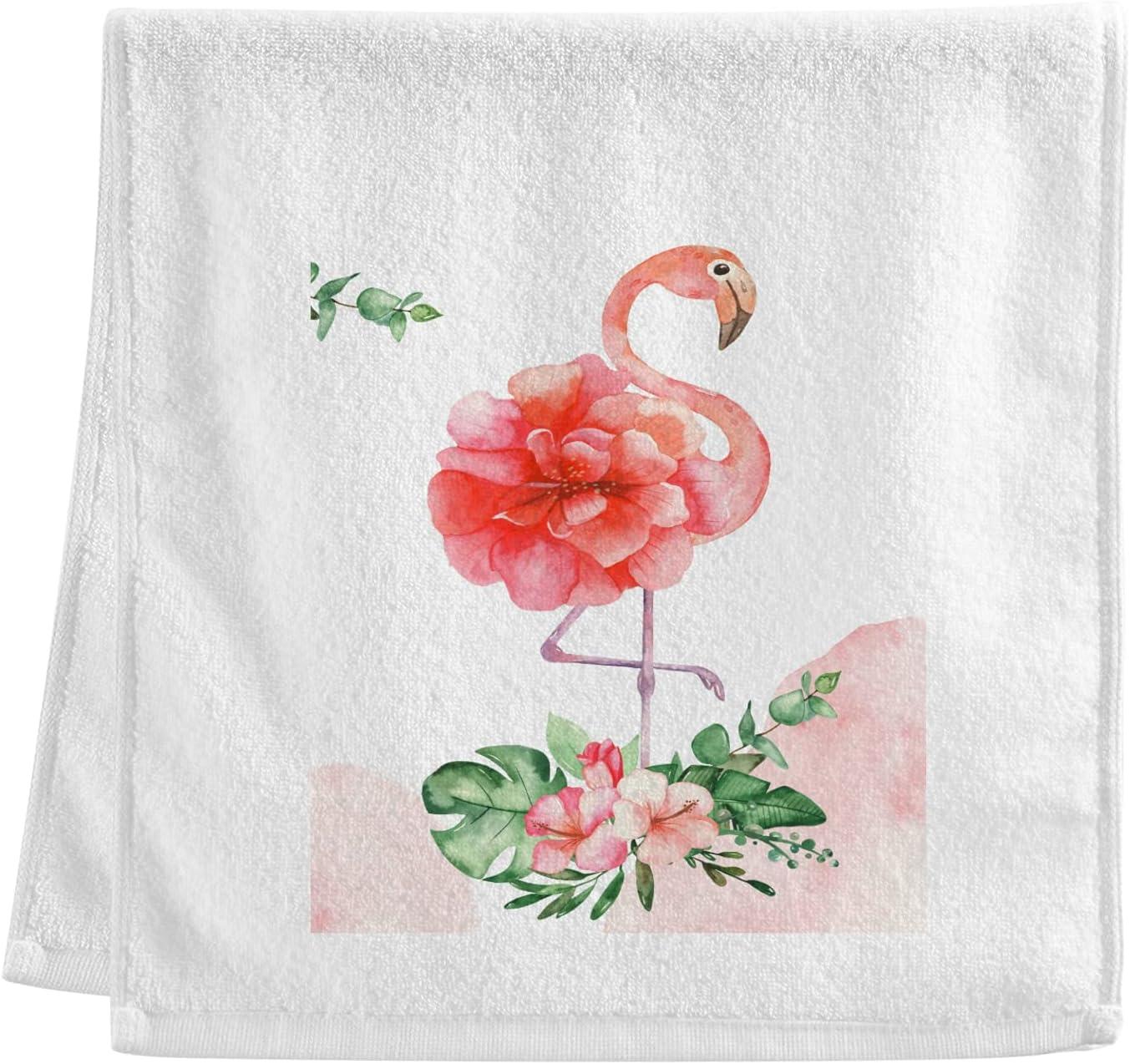 Luxury Superior 100% Cotton Bath Towels Pink Flamingo Very popular Ba Leaf FeatherPalm