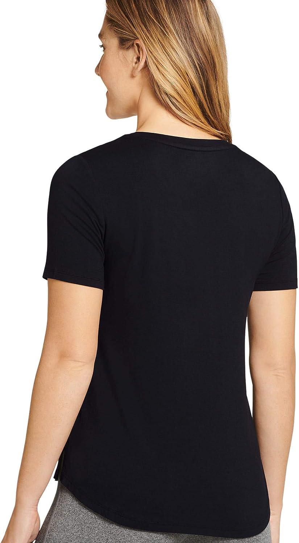 Jockey Women's T-Shirts Stretch Knit V-Neck Tee with Side Slits