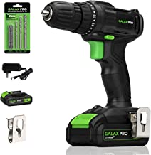 GALAX PRO 20V Cordless Drill Driver with Work Light, Max Torque 20N.m, 3/8 Inch Keyless..