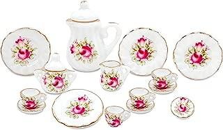 zamonji 17pc Dollhouse Miniature Teapot Set - Floral Pattern