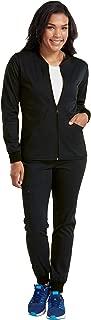 Touch Women's Zip-Front Warm Up Jacket & Jogger Yoga Scrub Pant Set [XS - 3XL]