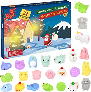 ELOVER 2019 Advent Calendar Christmas Countdown Calendar 24Pcs Kawaii Squishies Animals Relief Stress Toys Surprise Every Day for Kids and Adults