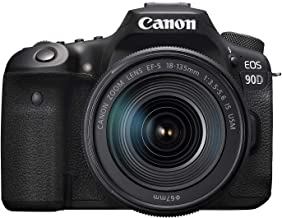 $1379 » Canon EOS 90D Digital SLR Camera with 18-135 is USM Lens (Renewed)
