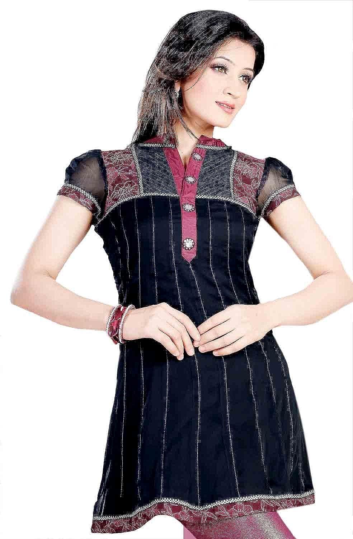 1545 Designs Women's Stone Work Short Sleeve Dress