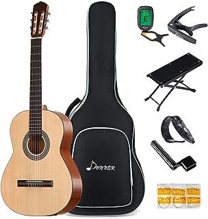 Donner 39 اینچ گیتار کلاسیک DCG-1 اندازه کامل مبتدی گیتار کلاسیک آکوستیک بسته بندی سیب چوب ماهون با کیسه کاپو تونر رشته ریشه