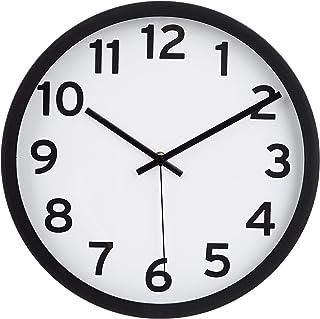 Amazon Basics Horloge murale à chiffres, noir, 30,5 cm