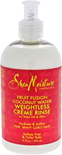 Shea Moisture Fruit Fusion Coconut Water Weightless Creme Rinse1, 13 Ounce