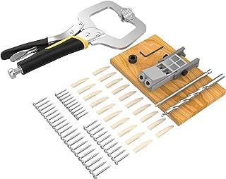 DuroFox Pocket Hole Jig with Pocket Hole Screw and Clamp Jig Drill Guide Jig Plug