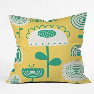 Deny Designs Gabriela Larios Sunny Garden Throw Pillow, 16 x 16