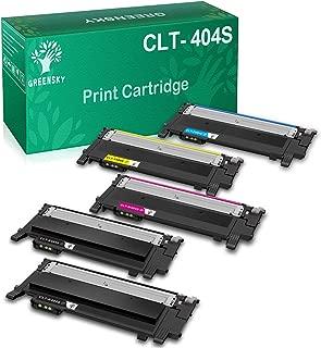 GREENSKY Compatible Toner Cartridge Replacement for Samsung CLT-K404S CLT-C404S CLT-M404S CLT-Y404S Xpress SL-C430W SL-C430FW SL-C480FW SL-C480W SL-C480FN (Black, Cyan, Yellow, Magenta, 5-Pack)