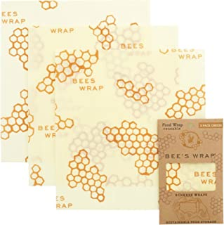 Bee's Wrap Cheese Wrap 3 Pack, Eco Friendly Reusable Beeswax Food Wraps, Sustainable, Zero Waste, Plastic Free Cheese Save...