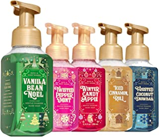 Bath and Body Works Holiday Christmas Favorites 2019 Foaming Hand Soap 5-Pack