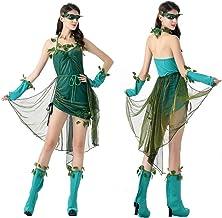Women's Costume Women's 5 Piece Sexy Dress Vine Costume Halloween Fancy Dress Costume Stage Play Costume,Green,One Size