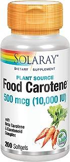 Solaray Food Carotene, Vitamin A 10000 IU | Healthy Skin, Eyes, Antioxidant & Immune Support (200 CT)