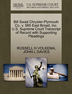 Bill Swad Chrysler-Plymouth Co. v. 565 East Broad, Inc. U.S. Supreme Court Transcript of Record with Supporting Pleadings
