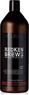 Sponsored Ad - Redken Brews 3-IN-1 Shampoo For Men, Shampoo, Conditioner And Body Wash
