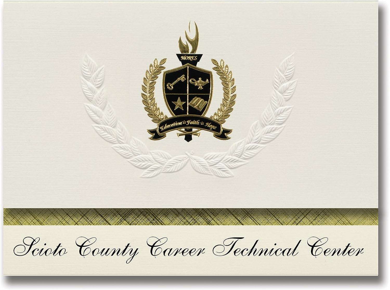 Signature Ankündigungen scioto County (Karriere Technische Center (lucasville, oh) Graduation Ankündigungen, Presidential Elite Pack 25 mit Gold & Schwarz Metallic Folie Dichtung B078VCBJC3   | Elegant und feierlich